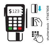 pos terminal icons | Shutterstock .eps vector #97687808