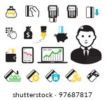 business set.credit cards and... | Shutterstock .eps vector #97687817
