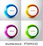 vector techno circles...