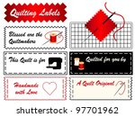 quilt sewing labels  copy space ...