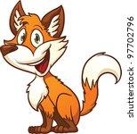 Cute Cartoon Fox. Vector...