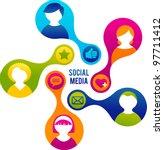 social media and network... | Shutterstock .eps vector #97711412