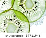 Sliced Kiwi Covered With...