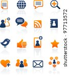social media and network icons  ... | Shutterstock .eps vector #97713572