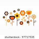retro spring flowers collection ...   Shutterstock .eps vector #97717535