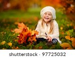 adorable little girl with... | Shutterstock . vector #97725032