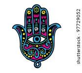 hand of fatima  khamsa  | Shutterstock .eps vector #97729052