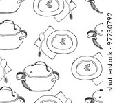Pots And Plates Pattern