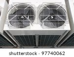 air conditioning outdoor unit...   Shutterstock . vector #97740062