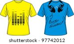 t shirt with drawing in the... | Shutterstock .eps vector #97742012