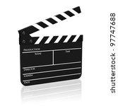 clapboard  clapperboard ... | Shutterstock . vector #97747688