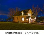 luxury house at dusk in... | Shutterstock . vector #97749446