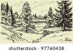 Vector Landscape. A Winding...