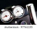 Chrome Tachometer Of A Sport...