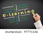 e learning concept and other... | Shutterstock . vector #97771136