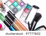 set of makeup products isolated ... | Shutterstock . vector #97777832