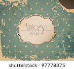 vector grunge retro vintage... | Shutterstock .eps vector #97778375