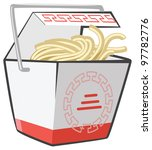chinese food doggie bag take...   Shutterstock .eps vector #97782776