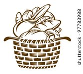 different breads in the basket | Shutterstock .eps vector #97783988