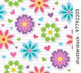 seamless pattern of flower... | Shutterstock .eps vector #97792205