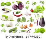 collection of vegetables with a ... | Shutterstock . vector #97794392