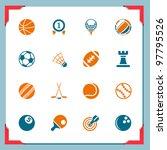 sport icons   Shutterstock .eps vector #97795526