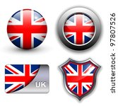 united kingdom  uk flag icons... | Shutterstock .eps vector #97807526