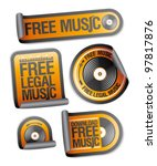 free legal music stickers pack.
