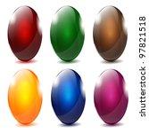 elegant glossy easter eggs | Shutterstock .eps vector #97821518