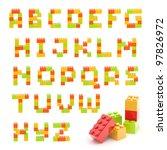 alphabet set made of toy... | Shutterstock . vector #97826972