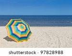 Umbrella On A Sandy Beach ...