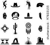 southwest desert icons | Shutterstock . vector #97833155