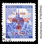 bohemia   circa 1939  a stamp... | Shutterstock . vector #97835942