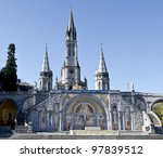 Sanctuary Of Lourdes - stock photo