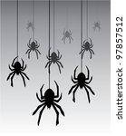 vector illustration of hanging... | Shutterstock .eps vector #97857512