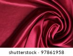 red smooth and elegant satin | Shutterstock . vector #97861958