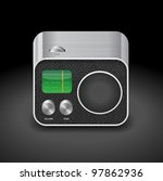 high detailed icon for radio.... | Shutterstock .eps vector #97862936