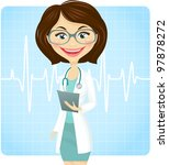 young female doctor | Shutterstock .eps vector #97878272