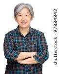 mature asian woman smile | Shutterstock . vector #97884842