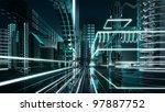 futuristic megalopolis1 | Shutterstock . vector #97887752