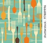 dinnertime background with... | Shutterstock .eps vector #97889996