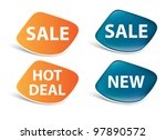 vector stickers   sale  new ... | Shutterstock .eps vector #97890572