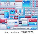 great web elements vector... | Shutterstock .eps vector #97892978