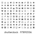new beautiful 120 icons for... | Shutterstock .eps vector #97893536