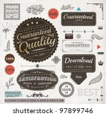 set of vintage premium quality... | Shutterstock .eps vector #97899746