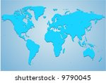detailed vector map | Shutterstock .eps vector #9790045