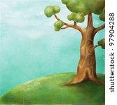 illustration   the tree on the... | Shutterstock . vector #97904288