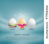 set of easter eggs. with... | Shutterstock .eps vector #97906466