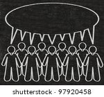 business people or employees... | Shutterstock . vector #97920458