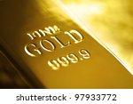 gold bullion bar or ingot | Shutterstock . vector #97933772